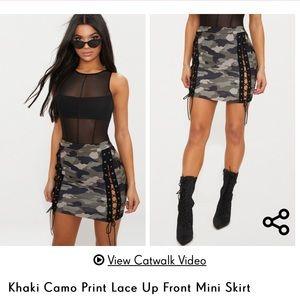 PRETTYLITTLETHING camo skirt